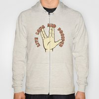 LIVE LONG AND PROSPER! - Star Trek Hoody