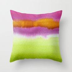 Popsicle- watermelon, cherry, orange Throw Pillow