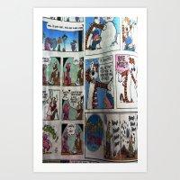 Comic Style Art Print