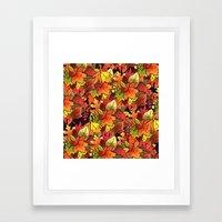 Leaf Pile Framed Art Print