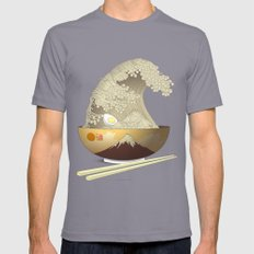The Great Ramen Wave Mens Fitted Tee Slate SMALL