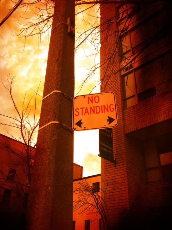 No Standing Art Print