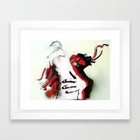 Elephant Naked Man Framed Art Print