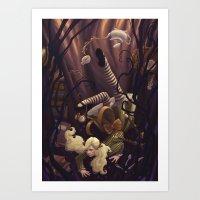 Alice Down the Rabbit Hole Art Print
