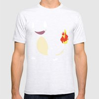 Charmander Mens Fitted Tee Ash Grey SMALL