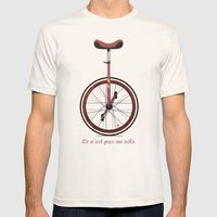 Unicycle Mens Fitted Tee Natural SMALL