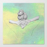 Green Cosmo Canvas Print
