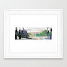 Hillscape Framed Art Print