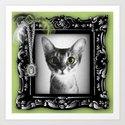 Lady Cat Art Print