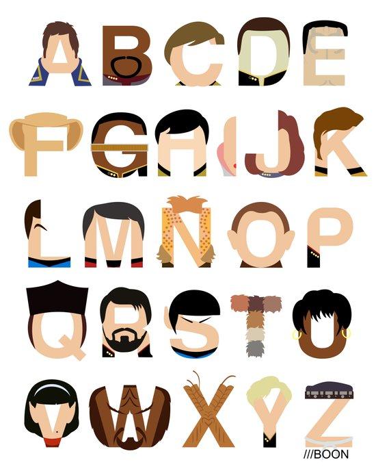 Star Trek Alphabet Art Print