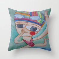 On The Verge Throw Pillow