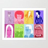 Faces Of Fashion Part De… Art Print