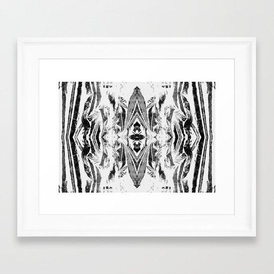 Psychofish Pattern Framed Art Print