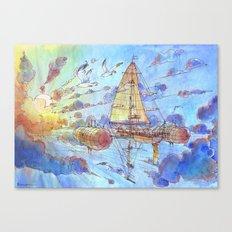 Viaggiando nel Sole Canvas Print
