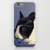 Blue Biker Bunny Print iPhone 6 Slim Case