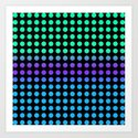 Lil Hottie Aqua/Purple/Blue Art Print