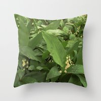 Old Lilies Throw Pillow