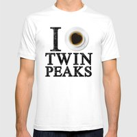 I Love Twin Peaks (Coffe… Mens Fitted Tee White SMALL