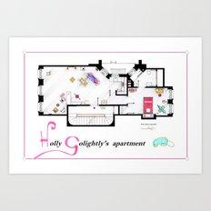 Breakfast at Tiffany's Apartment Floorplan v2 Art Print