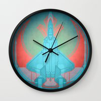 Into the future USAF F22 Wall Clock