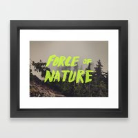 Force of Nature x Cloud Forest Framed Art Print