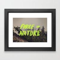 Force Of Nature X Cloud … Framed Art Print