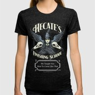 Hecate's Finishing Schoo… Womens Fitted Tee Tri-Black SMALL