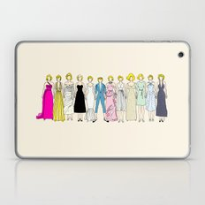 Marilyn Fashion Vintage Retro in Cream Laptop & iPad Skin