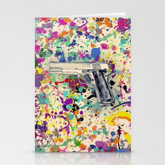 Gun Stationery Card