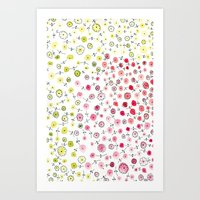 Tiny flowers Art Print