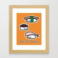 Sushi Guys Framed Art Print
