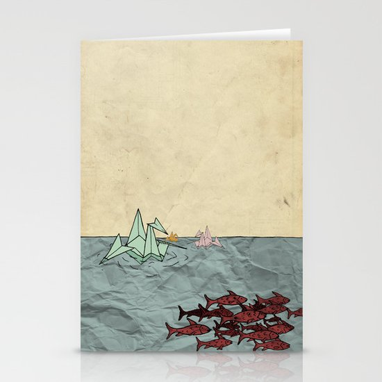 Paper Cranes Stationery Card