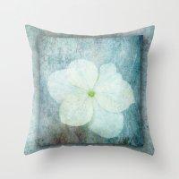 3D Hydrangea Throw Pillow