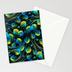 Seamless floral background in blue color Stationery Cards