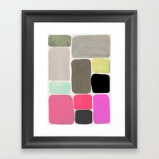 Colour + Pattern Framed Art Print