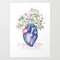 Strawberry Heart  Art Print