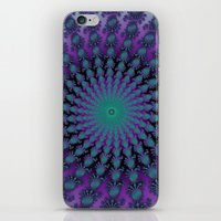Cool Hued Purple Blue Braided Rug Fractal iPhone & iPod Skin