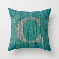 Winter clothes. Letter C. Throw Pillow