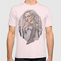 Heather Mens Fitted Tee Light Pink SMALL