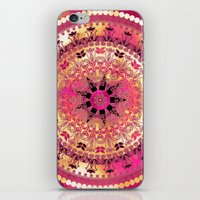 Raspberry Mandala iPhone & iPod Skin