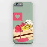 iPhone & iPod Case featuring Berry Heart Cake by Chelsea Noel Dostert