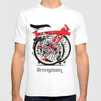 Brompton Bike Mens Fitted Tee White SMALL
