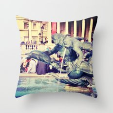 Fountain of Angels Throw Pillow