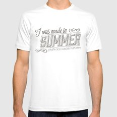 I was made in Summer (Thank you holiday naptime) Mens Fitted Tee White SMALL