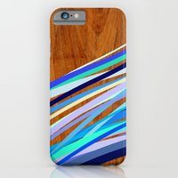 Wooden Waves Blue iPhone 6 Slim Case
