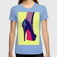Shoe Womens Fitted Tee Tri-Blue SMALL