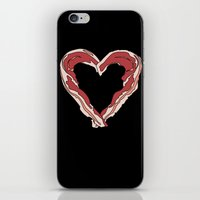 Baconlove (black Backgro… iPhone & iPod Skin