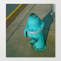 Turquoise Hydrant Canvas Print
