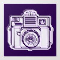 I Still Shoot Film Holga Logo - Reversed Deep Purple Canvas Print