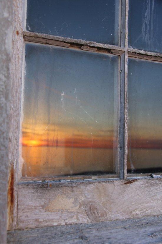 Window Sunset  Canvas Print